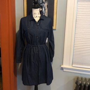 Old Navy Dark Chambray Denim Shirt Dress (S)